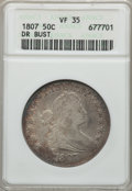 Early Half Dollars: , 1807 50C Draped Bust VF35 ANACS. NGC Census: (50/415). PCGSPopulation (115/548). Mintage: 301,076. . From The OhioVal...