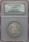 Seated Half Dollars: , 1855-S 50C Arrows -- Improperly Cleaned -- NCS. VF Details. NGC Census: (1/35). PCGS Population (8/45). Mintage: 129,950. C...