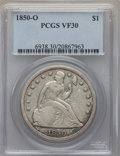 Seated Dollars: , 1850-O $1 VF30 PCGS. PCGS Population (13/145). NGC Census: (6/114). Mintage: 40,000. . From The Ohio Valley Collection....