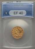 1855-S $5 XF40 ANACS. NGC Census: (8/88). PCGS Population (12/65). Mintage: 61,000. CDN Wsl. Price for problem free NGC/...
