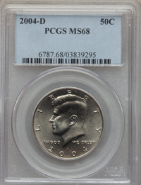 2004-D 50C MS68 PCGS. PCGS Population (27/0). NGC Census: (12/0). From The Bristol Collection....(PCGS# 6787)