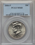 Kennedy Half Dollars, 2006-P 50C MS68 PCGS. PCGS Population (16/0). . From The BristolCollection....