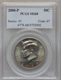 Kennedy Half Dollars, 2000-P 50C MS68 PCGS. PCGS Population (21/0). NGC Census: (5/0). .From The Bristol Collection....