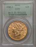 Liberty Double Eagles: , 1890-S $20 AU55 PCGS. PCGS Population (144/1516). NGC Census: (69/1655). Mintage: 802,750. . From The Ohio Valley Colle...