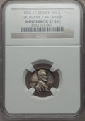 1961 1C Lincoln Cent -- Struck On A 10C Blank Planchet (2.48g) -- XF45 NGC