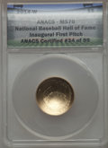 2014-W $5 National Baseball Hall of Fame Gold Five Dollar, Inaugural First Pitch MS70 ANACS. ANACS Certified #34 of 99...