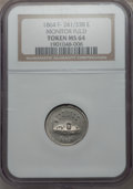 Civil War Patriotics, 1864 Monitor / Our Navy MS64 NGC. Fuld-241/338e, R.8. Ex: GeorgeFuld Collection....