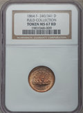 Civil War Patriotics, 1863 Monitor / Union For Ever MS67 NGC. Fuld-240/341d, R.9. Ex:George Fuld Collection. The NGC holder incorrectly designate...