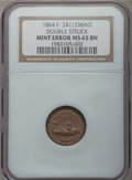 Civil War Patriotics, 1864 Monitor / Our Navy -- Double Struck -- MS65 Brown NGC.Fuld-241/338ao....