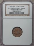 Civil War Patriotics, Undated Monitor / Our Navy -- Flipover Double Strike -- MS61 BrownNGC. Fuld-241/338a, R.10....