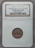 Civil War Patriotics, 1864 Monitor -- Mirror Brockage on Reverse -- MS65 Brown NGC.Fuld-241/241a, R.9....