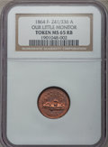 Civil War Patriotics, 1864 Monitor / Our Navy MS65 Red and Brown NGC. Fuld-241/336a,R.1....
