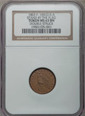 Civil War Patriotics, 1863 Stand By The Flag -- Double Struck -- MS63 Brown NGC.Fuld-169/213a, R.2....