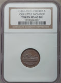 Civil War Patriotics, Undated Our Little Monitor / Union MS65 Brown NGC. Fuld-238/402a,R.4....