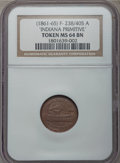 Civil War Patriotics, Undated Indiana Primitive, Monitor / Constitution, MS64 Brown NGC.Fuld-238/405a, R.3....