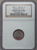 Civil War Patriotics, 1863 Monitor / Union For Ever MS67 Brown NGC. Fuld-240/341a, R.1.Ex: George Fuld Collection....