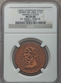 U.S. Presidents & Statesmen, (1852) Winfield Scott Campaign Medal MS64 Red and Brown NGC.DeWitt-WS-1852-7. Ex: John J. Ford, Jr. Copper, 32 mm....