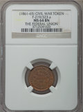 Civil War Patriotics, 1863 God Protect The Union MS63 Brown NGC, Fuld-5/288a, R.2;Undated Union Shield MS63 Brown NGC, Fuld-163/352a, R.2; Undated... (Total: 4 tokens)