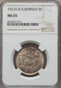 British North Borneo, British North Borneo: British Protectorate 5 Cents 1921-H MS65NGC,...