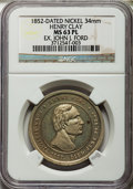 U.S. Presidents & Statesmen, 1852 Henry Clay / Union MS63 Prooflike NGC. Ex: John J. Ford, Jr.Nickel, 34 mm....