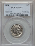Buffalo Nickels, 1924 5C MS63 PCGS. PCGS Population: (230/906). NGC Census: (127/411). CDN: $135 Whsle. Bid for problem-free NGC/PCGS MS63. ...