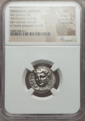 Ancients:Greek, Ancients: THESSALY. Larissa. Mid to late 4th century BC. AR drachm(5.97 gm)....