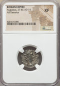 Ancients:Roman Imperial, Ancients: Augustus (27 BC-AD 14). AR denarius (20mm, 3.89 gm, 6h)....