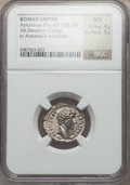 Ancients:Roman Imperial, Ancients: Marcus Aurelius, as Caesar (AD 139-161). AR denarius(3.68 gm)....