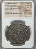 Ancients:Byzantine, Ancients: Tiberius II Constantine (AD 578-582). Æ follis (15.21gm)....