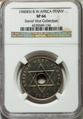 British West Africa, British West Africa: British Colony. George VI copper-nickel Specimen Penny 1940-KN SP66 NGC,...