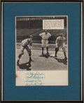 Baseball Collectibles:Photos, 1930's Babe Ruth Signed Newspaper Photograph....