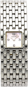 Estate Jewelry:Watches, Cartier Lady's Panthere Ruban Stainless Steel Watch. ...