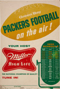 Football Collectibles:Others, 1955 Green Bay Packers Broadside....