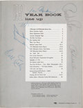 Baseball Collectibles:Others, 1957 Milwaukee Braves Team Signed Yearbook....