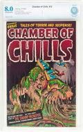 Golden Age (1938-1955):Horror, Chamber of Chills #12 (Harvey, 1952) CBCS VF 8.0 Off-white to whitepages....