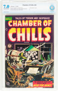 Golden Age (1938-1955):Horror, Chamber of Chills #21 (Harvey, 1954) CBCS FN/VF 7.0 Off-white towhite pages....