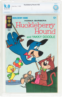 Huckleberry Hound #32 (Gold Key, 1968) CBCS VF/NM 9.0 Off-white to white pages