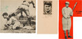 Baseball Collectibles:Photos, Circa 1960 Ty Cobb Signed Newspaper Photographs Lot of 3....