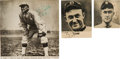 Baseball Collectibles:Others, Circa 1960 Ty Cobb Signed Newspaper Photographs Lot of 3....