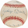 Baseball Collectibles:Balls, Mickey Mantle, Willie Mays and Duke Snider Multi-Signed Baseball....