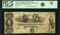 Obsoletes By State:Ohio, Columbus, OH - State Bank of Ohio, Franklin Branch $10 ContemporaryCounterfeit March 3, 1849 OH-5 C496, Wolka 0893-33. PCGS V...