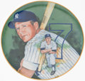 Baseball Collectibles:Others, Mickey Mantle Signed Plate....