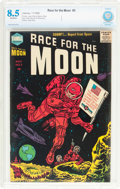 Golden Age (1938-1955):Science Fiction, Race For the Moon #3 (Harvey, 1958) CBCS VF+ 8.5 Off-whitepages....