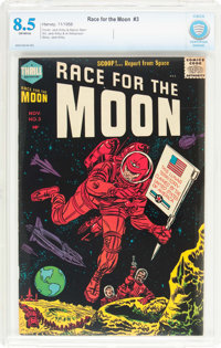 Race For the Moon #3 (Harvey, 1958) CBCS VF+ 8.5 Off-white pages