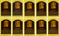 Baseball Collectibles:Others, 1980's Sandy Koufax Signed Hall of Fame Plaque Postcards Lot of 10....