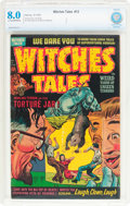 Golden Age (1938-1955):Horror, Witches Tales #13 (Harvey, 1952) CBCS VF 8.0 Light tan to off-whitepages....