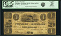 Obsoletes By State:Ohio, Massillon, OH - Bank of Massillon $1 Undated (Ca. 1850's) SpuriousIssue OH-285 S5, Wolka 1609-02. PCGS Very Fine 20 Apparent....