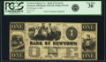 Obsoletes By State:Ohio, Newtown, OH- Newtown Library Co. - Bank of Newtown $1 June 9, 1846OH-345 G10, Wolka 1974-01. PCGS Very Fine 30.. ...