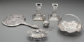 Silver Smalls:Other , Five Continental Desk Accessories with a Black, Starr & FrostSilver Tea Strainer, early 20th century. Marks: (various marks...(Total: 6 Items)