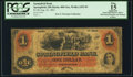 Obsoletes By State:Ohio, Springfield, OH - Springfield Bank $1 Aug. 22, 1861 OH-400 G6a,Wolka 2452-03. PCGS Fine 15 Apparent.. ...